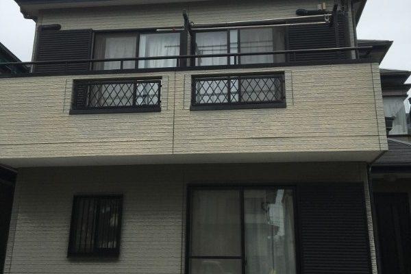 ベランダFRP防水工事、屋根カバー工事、外壁塗装、庇補修工事 東京都府中市