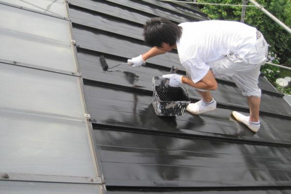 東京都府中市 屋根塗装 色あせ 塗膜 雨漏り