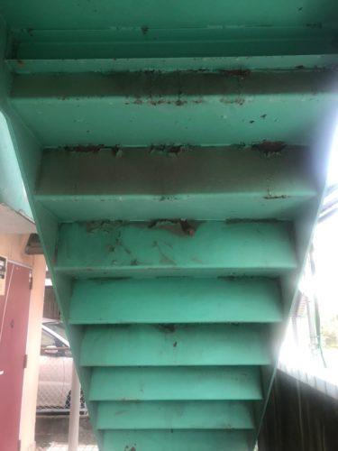鉄骨階段施工前の画像