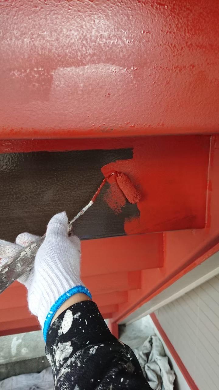 鉄骨階段の塗装の画像