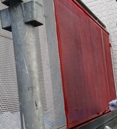 フェンスの塗装の画像
