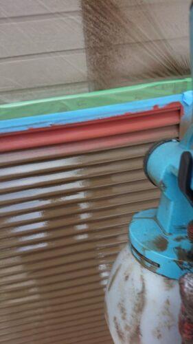雨戸吹き付け塗装の画像