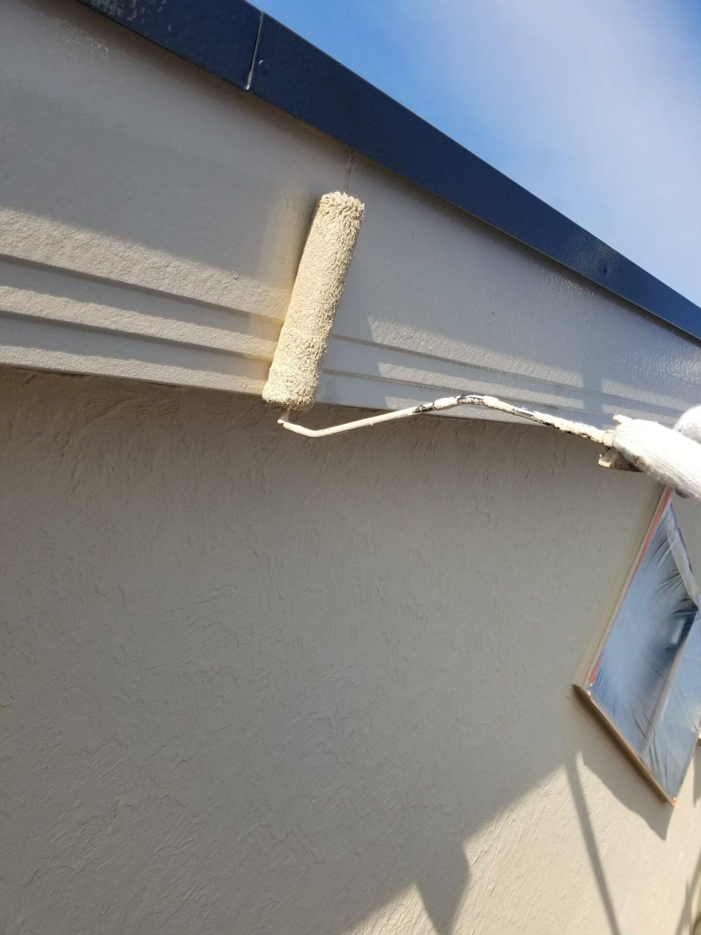 破風板の塗装の画像