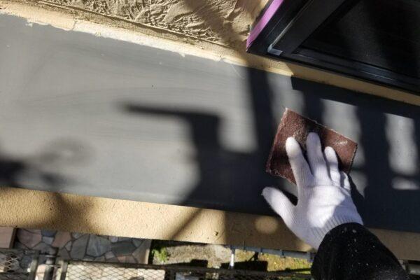 庇の下地処理の画像